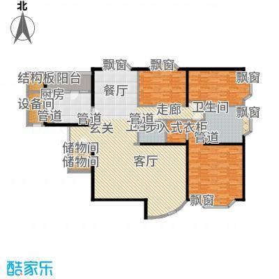 通用时代国际公寓200.80㎡C座E户面积20080m户型