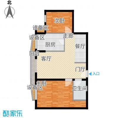 中海城香克林t2b户型