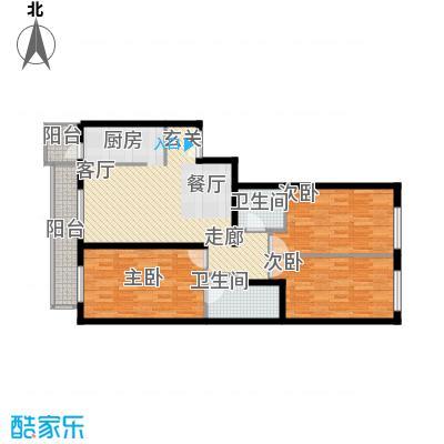 本家润园126.38㎡9号楼一单元C2户面积12638m户型