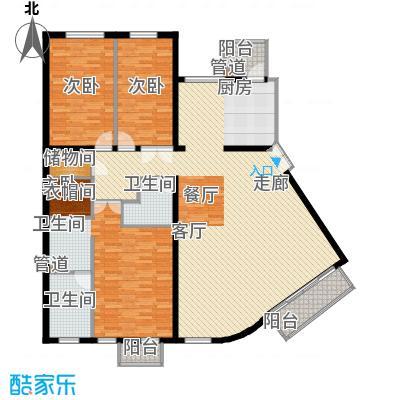 本家润园181.84㎡9号楼二单元D1户面积18184m户型
