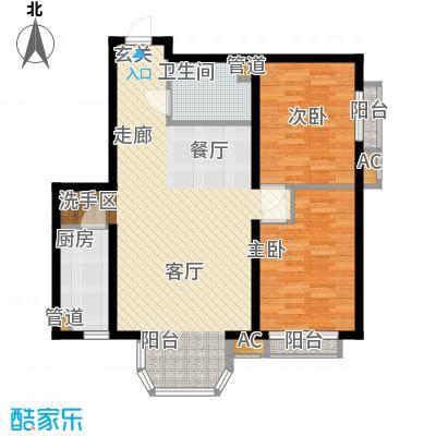 珠江峰景3号楼E户型