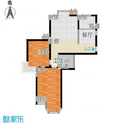 珠江峰景110.00㎡19号楼A面积11000m户型