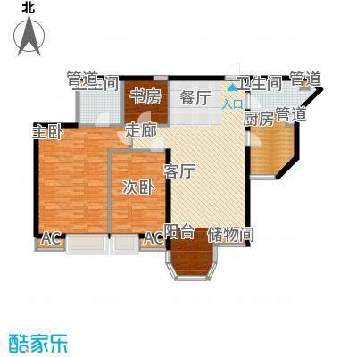 珠江峰景120.00㎡19号楼B面积12000m户型