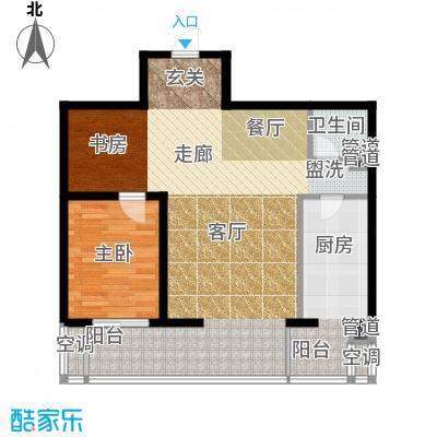 嘉美风尚中心105.19㎡2号楼B2面积10519m户型