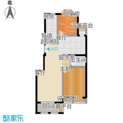 中海城圣朝菲101.40㎡2AE标准面积10140m户型