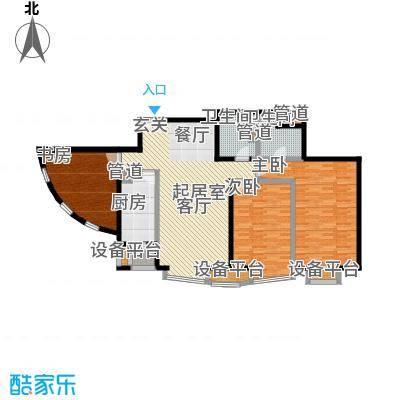 中海城圣朝菲130.44㎡T1-3A面积13044m户型