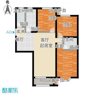 中海城圣朝菲134.63㎡T1-3B面积13463m户型