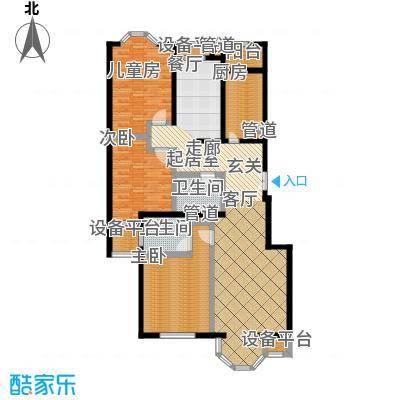中海城圣朝菲135.52㎡3AE标准面积13552m户型