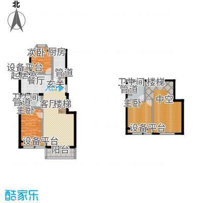 中海城圣朝菲128.09㎡LF2A标准户面积12809m户型