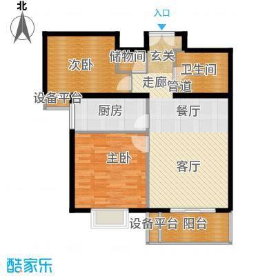 东恒时代一期88.00㎡二期A-1号楼面积8800m户型