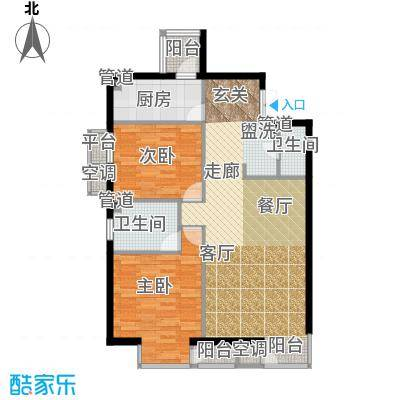 和平里de小镇112.25㎡3号楼C面积11225m户型