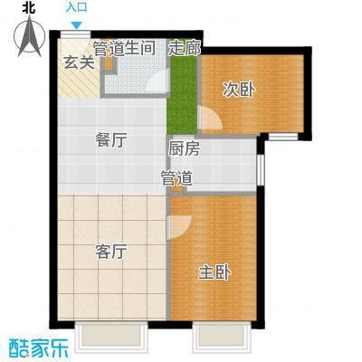 北京城建筑华年87.00㎡北京城建・筑华年1号楼D面积8700m户型