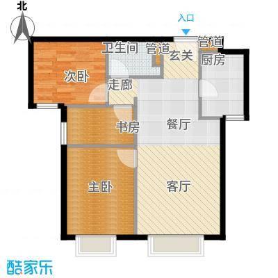 北京城建筑华年91.00㎡北京城建・筑华年7号楼0面积9100m户型