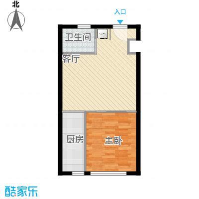 望京・雅特住区56.16㎡一室一厅一卫(已售完)户型