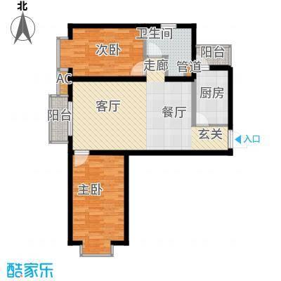 瑞雪春堂90.37㎡b8(二期)2面积9037m户型