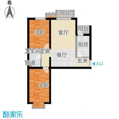 瑞雪春堂89.47㎡b11(二期)面积8947m户型