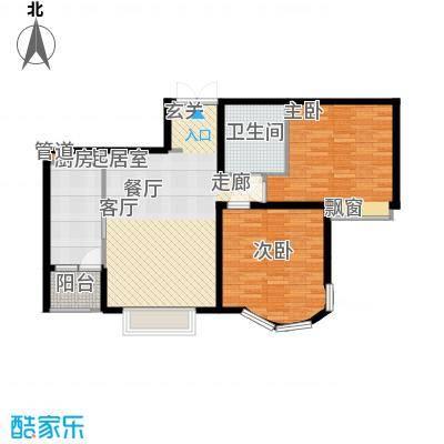 鹿港嘉苑108.07㎡三期9号楼E面积10807m户型