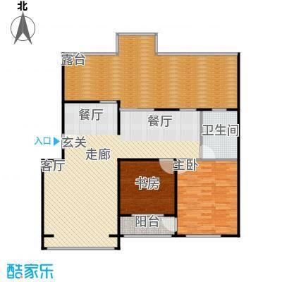 蓝调沙龙雅园95.08㎡A平面积9508m户型