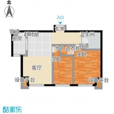 北京城建徜徉集90.00㎡C面积9000m户型