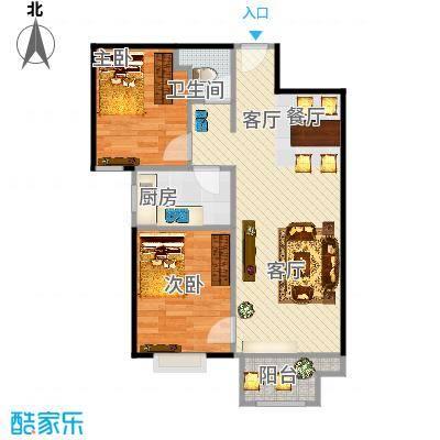悦澜湾A户型2室1厅1卫1厨