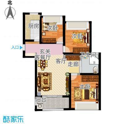 三室两厅一卫户型3室2厅1卫