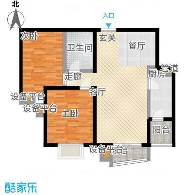 世纪东方城101.48㎡4号楼C1反(2居面积10148m户型