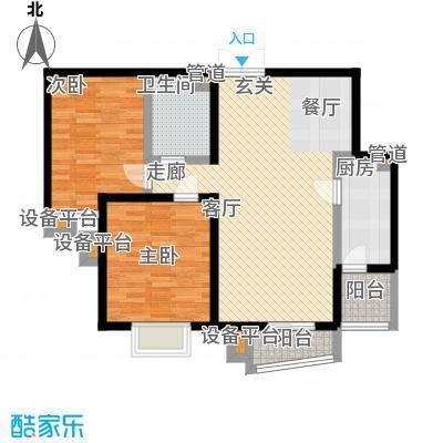 世纪东方城101.48㎡4#楼4单元C1反面积10148m户型