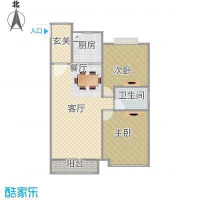 101方G2户型两室两厅