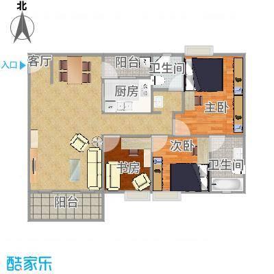 3座1702三室两厅