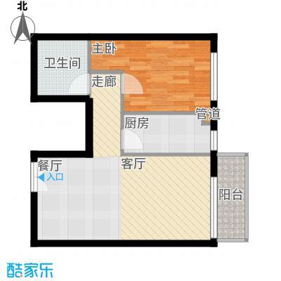本家润园61.99㎡9号楼一单元A1户面积6199m户型