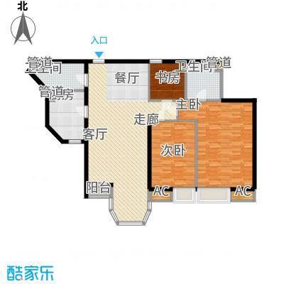 珠江峰景120.00㎡19号楼E面积12000m户型