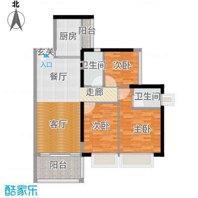 A栋C户型偶数层三房两厅两卫