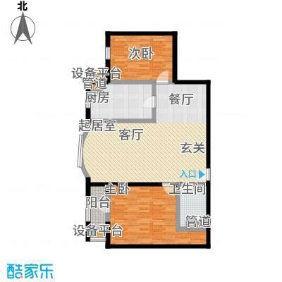 中海城圣朝菲99.93㎡t2-2b标准户面积9993m户型