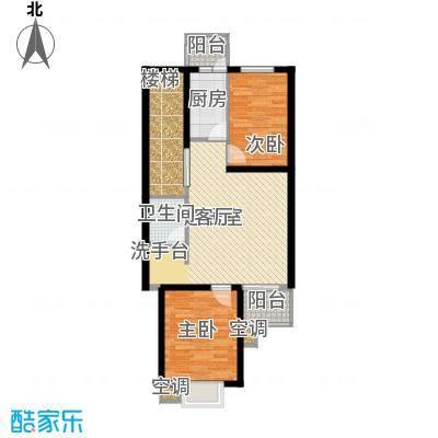 恒益馨苑72.96㎡A面积7296m户型