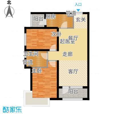 裕祥园85.75㎡1#6#7#楼1-30层B1面积8575m户型