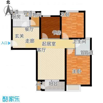 裕祥园122.95㎡9#10#楼1-30层C1户面积12295m户型