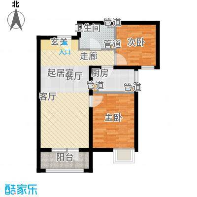 裕祥园82.38㎡1#6#7#楼1-30层B2面积8238m户型