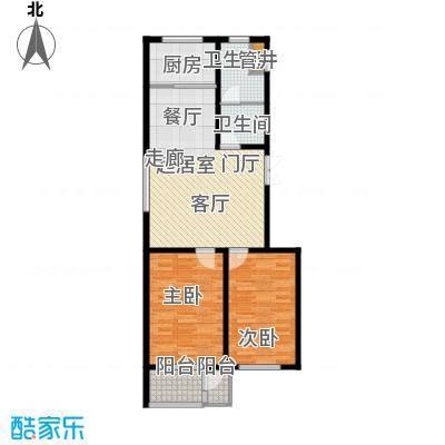 翡翠城89.53㎡2居室面积8953m户型