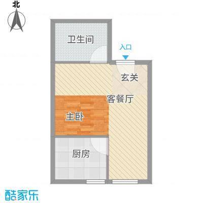 尚座63.00㎡一居室面积6300m户型