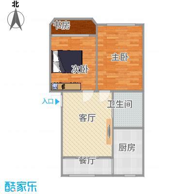 仁和花苑67方户型两室两厅的复制方案2