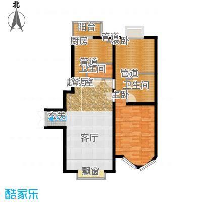 鹿港嘉苑二期6号楼F户型