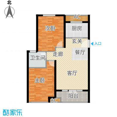 悦水澜庭9号楼C1户型
