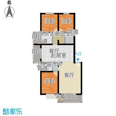 新新家园135.88㎡六号楼-L3面积13588m户型