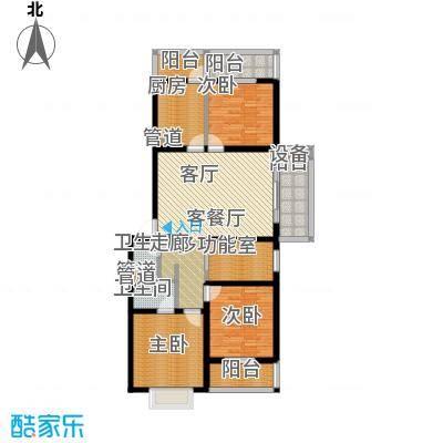 新新家园125.70㎡三号楼-D3面积12570m户型
