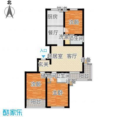宏坤馨港家园141.64㎡K2面积14164m户型