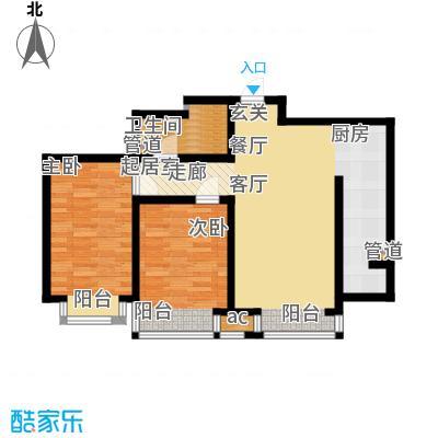 盛唐府邸93.00㎡D51面积9300m户型