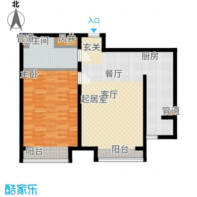 盛唐府邸77.00㎡B-2面积7700m户型