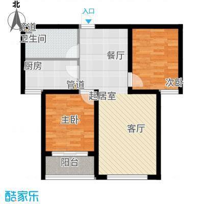 宏坤馨港家园77.72㎡D2面积7772m户型