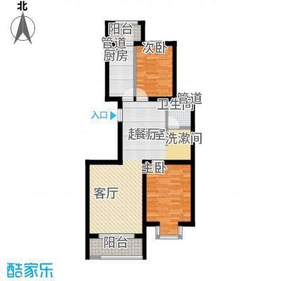 宏坤馨港家园93.00㎡A2面积9300m户型