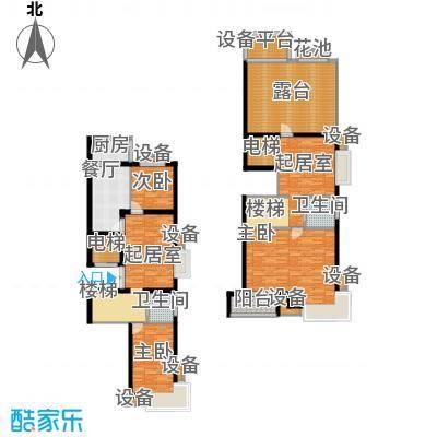 东兴公寓180.66㎡D越层下面积18066m户型